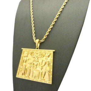 EGYPTIAN TABLET PENDANT w/24