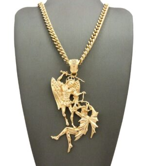 "ARCHANGEL PENDANT w/24"" CUBAN CHAIN"