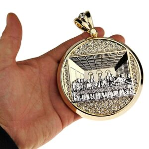 Huge Last Supper Pendant 2-Tone Silver/Gold