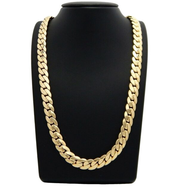 Miami Cuban link Chain 14k Gold Plated