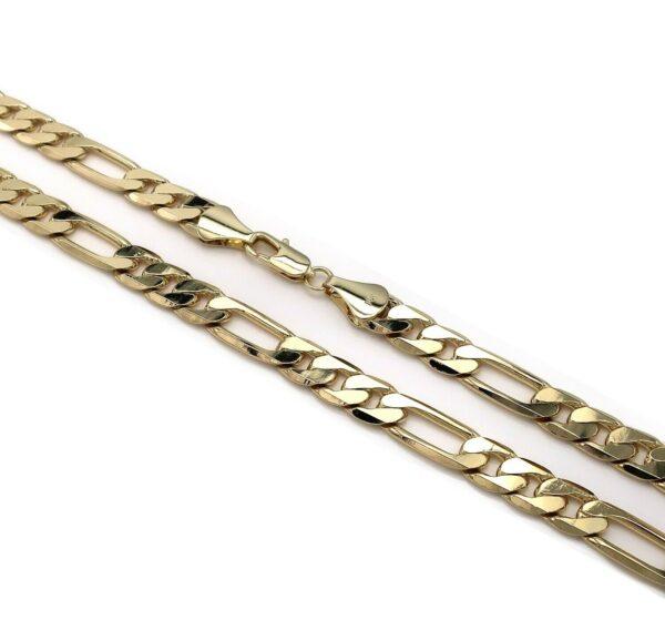 Italian Figaro Link 14k Gold Plated
