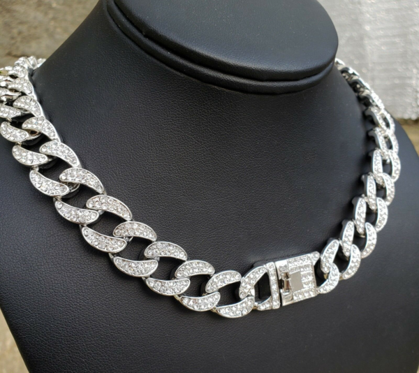 "Iced Out 24"", 30"" Miami Curb Cuban Link"
