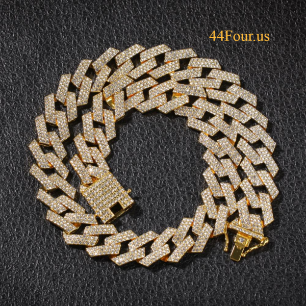 Hip Hop Miami Curb Cuban Link Triple Iced Out