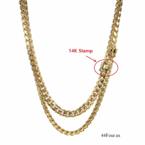 "14k Stamped MIAMI CUBAN LINK 2 PCS 10mm 24"" 26"" SET"