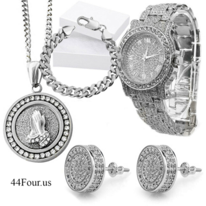 Luxury Watch, Chain, Bracelet & Earrings