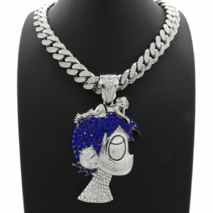 "Cartoon Pendant W/16"" 18"" 20"" Iced Cuban Chain"
