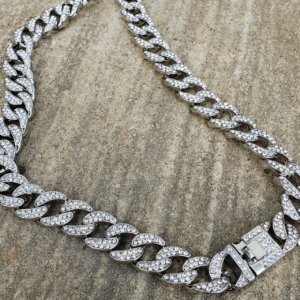 """Iced Out 24"""", 30"""" Miami Curb Cuban Link"""