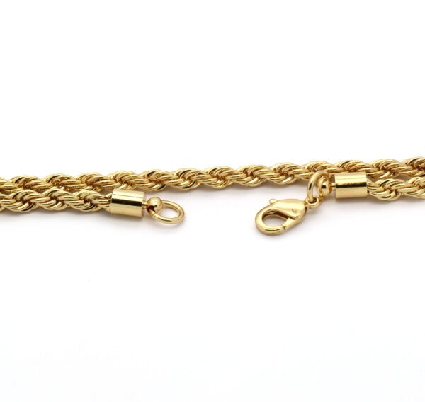 """Anchor Hook Cross Pendant w/24"""" Rope Chain"""