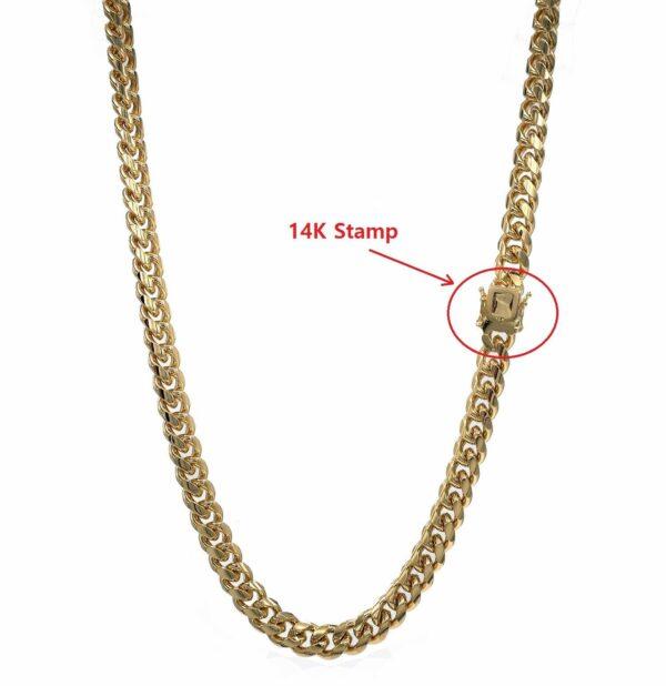 "14k Stamped MIAMI CUBAN LINK 2 PCS 10mm 24"" 26"" SET"
