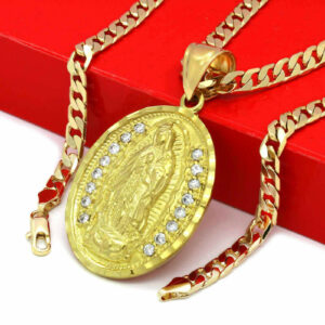 Oval Guadalupe Pendant w/24