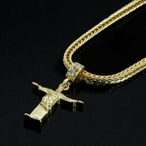 """Dope JESUS Piece w/24"""" Franco Chain Link"""