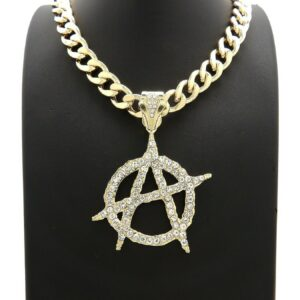 "Icy Anarchy Pendant & 11mm 18"" 20"" 24"" Cuban Choker"
