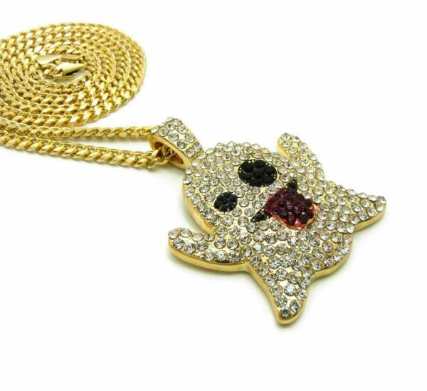 "EMOJI GHOST Pendant w/4mm 24"" Cuban Link"