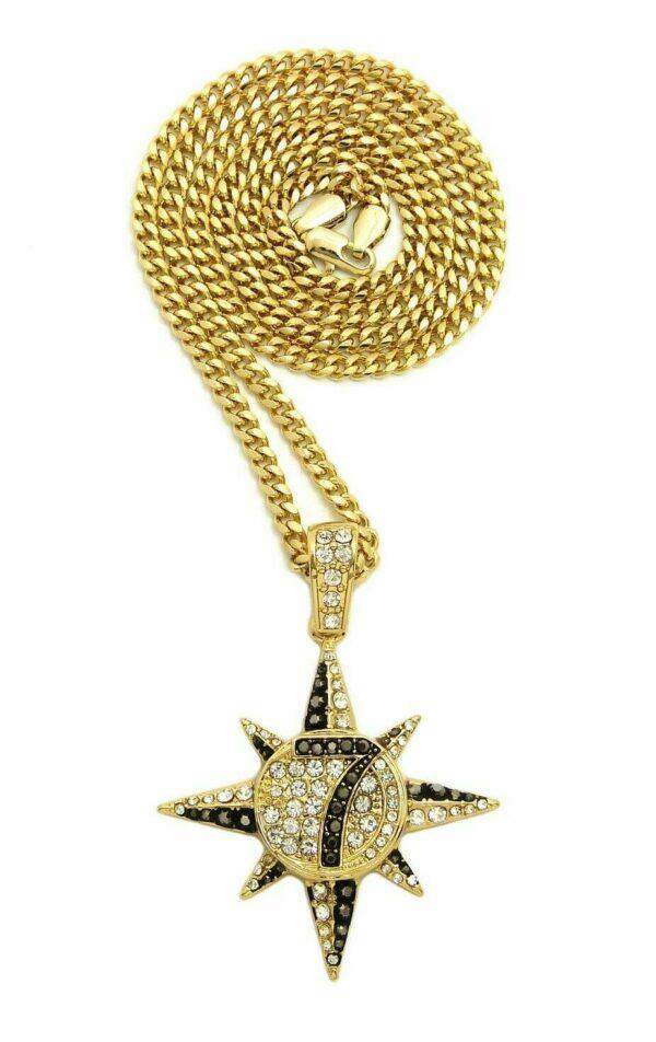 "7 STAR PENDANT w/24"" Chain Of Choice"
