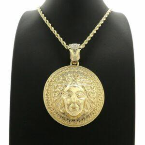 Medusa Medal Pendant w/4mm 24