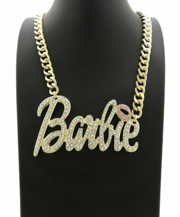 Women's Iced Out Barbie Jewelry Set