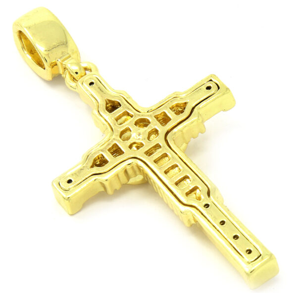 "Jesus Cross Pendant w/4mm 24"" Rope Chain"