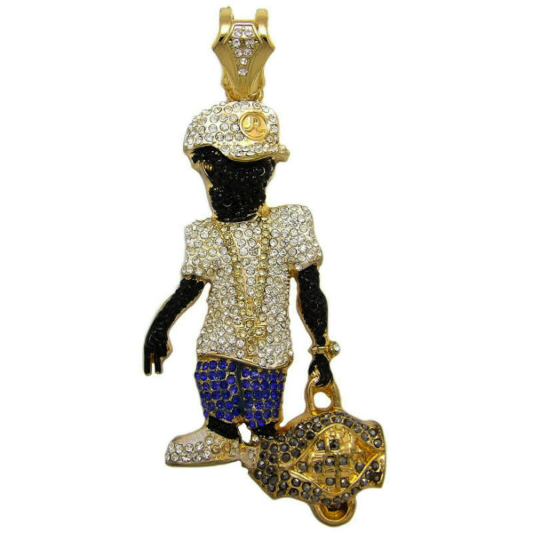 Iced Out Rappers LG DUFFLE BAG BOY PENDANT