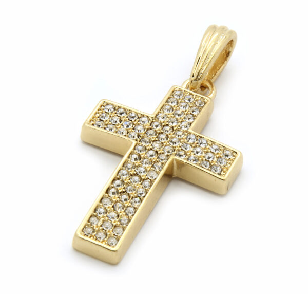 """Iced Out Cross Pendant w/24"""" Cuban Necklace"""