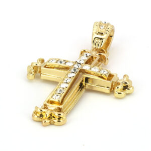 Iced Out Cross Pendant w/24
