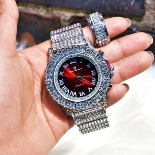 ICED LAB BLING WATCH & RING COMBO SET