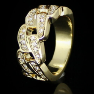 Men's Iced Out Miami Cuban Link Pinky Ring