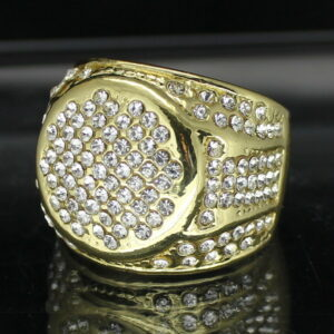 Round Iced Pinky Ring