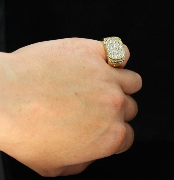 Icy Nugget Pinky Ring