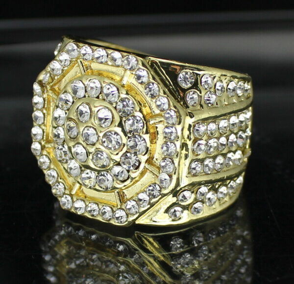 Iced Out Octagon Pinky Ring