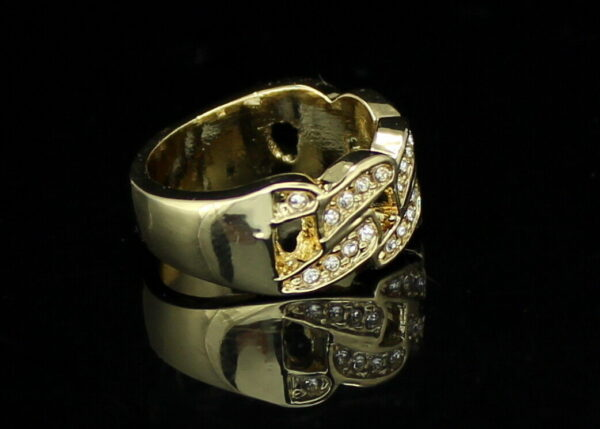 Iced Out Cuban Link Pinky Ring