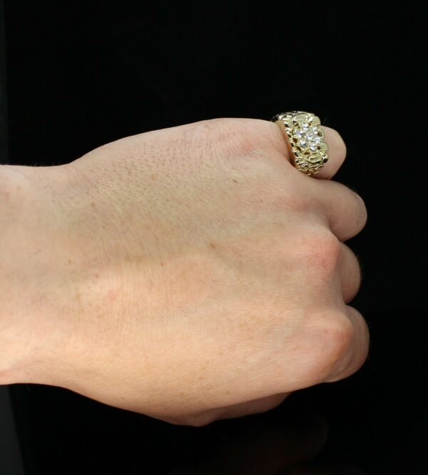 Nugget Pinky Ring Icy Cluster Sizes 5- 13
