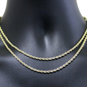 "2pc Choker Set 3mm Rope Chains 16"" 18"""