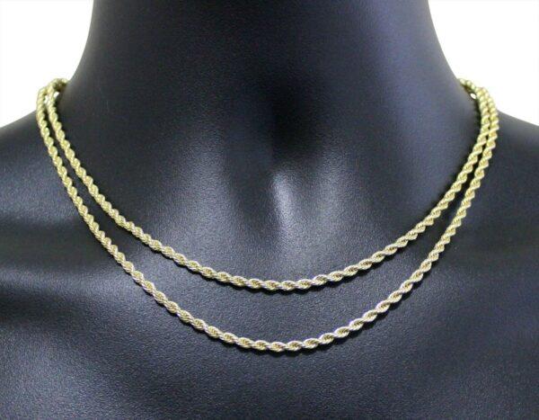 "2pc Choker Set 3mm Rope Chains 16"" 18"""