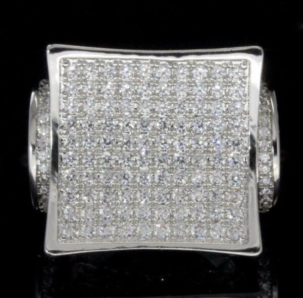 Men's Iced Pinky Ring Kite Design