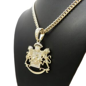Iced Royal Lion Bling Pendant With 24