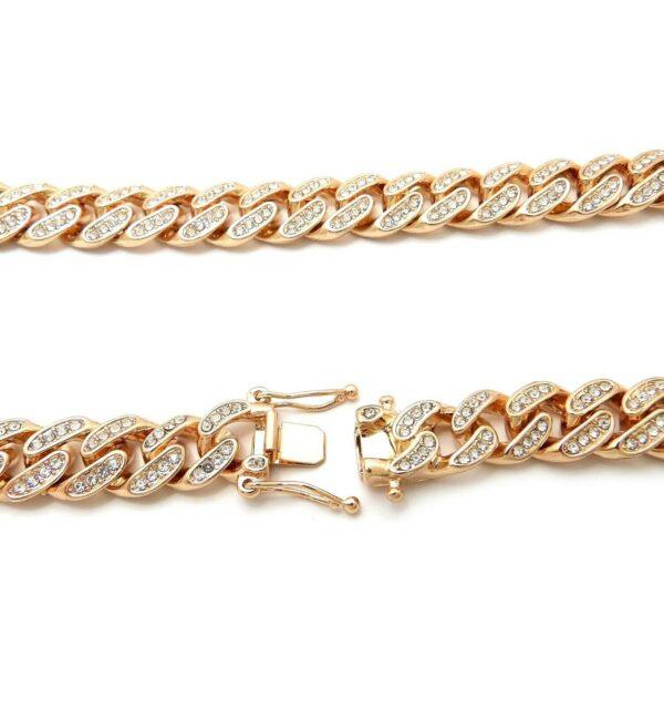 Miami Cuban Full Iced Box Lock Bracelet