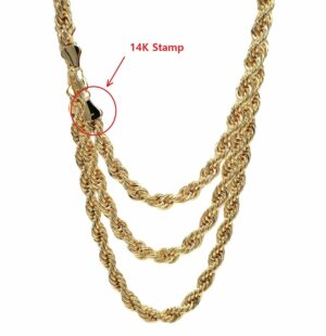 "Rope Chain Necklace 10mm 22"" 26"" 30"" Set"