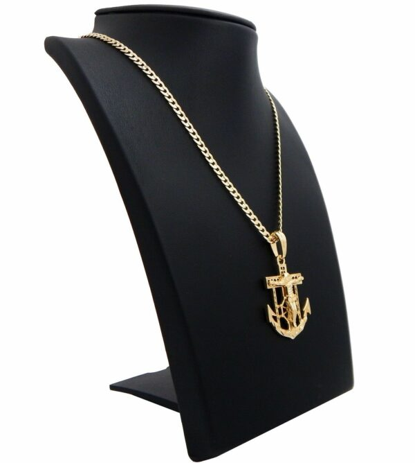 Jesus Anchor Cross Piece Pendant With Chain