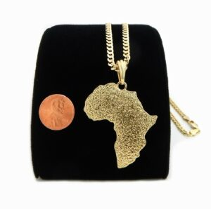 Africa Continent Pendant With Chain Of Choice