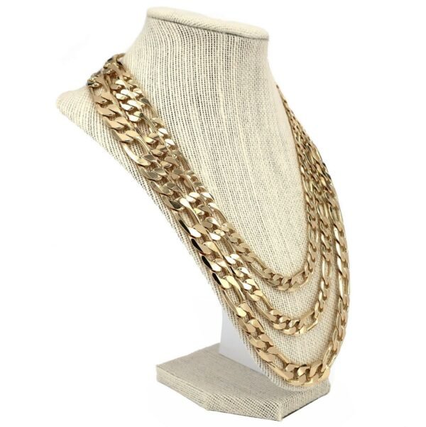 14k Stamped Italian Figaro Link Chain Necklace