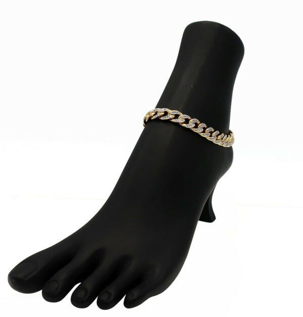 Iced out Cuban Link Anklet Bracelet