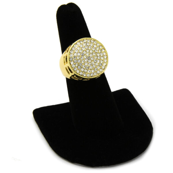 Iced Round Cz Ring Size Available 7 - 12