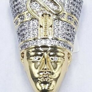 ICY NEFERTITI PENDANT WITH VVS1 MIAMI CUBAN LINK OR TENNIS CHAIN
