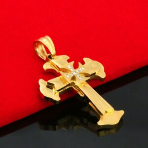 Holy Cross Maltese Pendant w/24