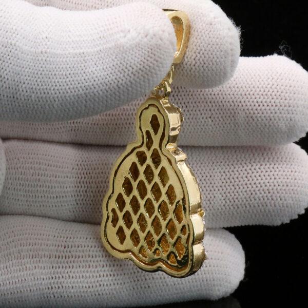 Meditating Buddha Pendant w/4mm 24 Figaro Chain