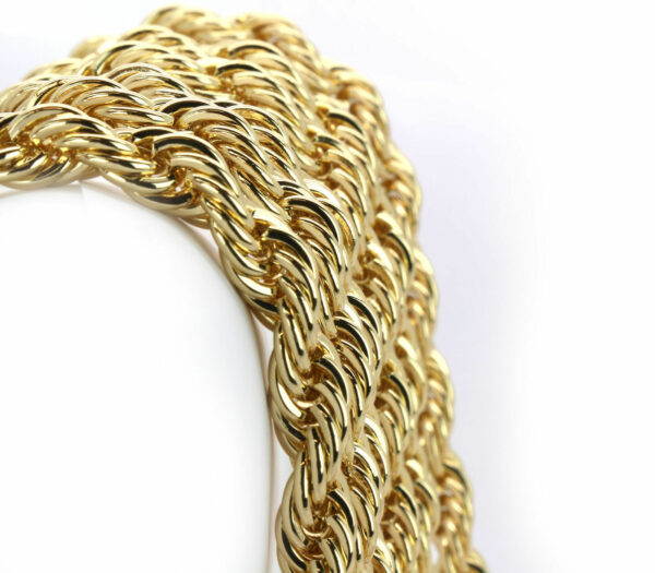 "9mm 24"" Thick Rope Chain Hip Hop Rapper Style Set"