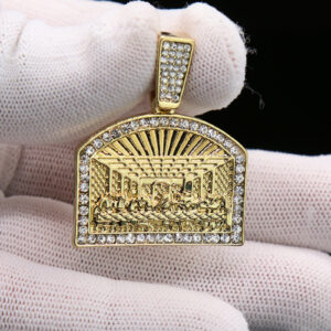 Religious Last Supper Charm Pendant With 24
