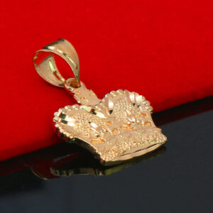 D-Cut King Crown Pendant With 5mm 18