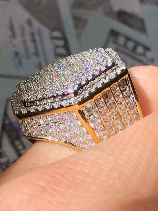 Iced Out 2.5ct CZ 14k White Gold Pinky Ring size 6-10 10720