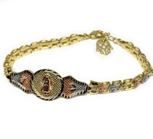 Virgin Mary Bracelet Virgen De Guadalupe Pulsera 8""